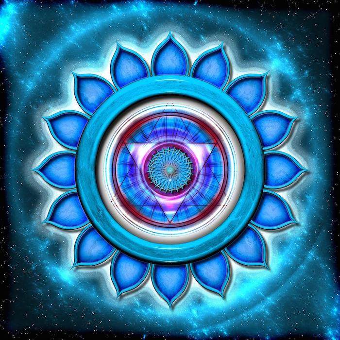 beautiful blue chakra
