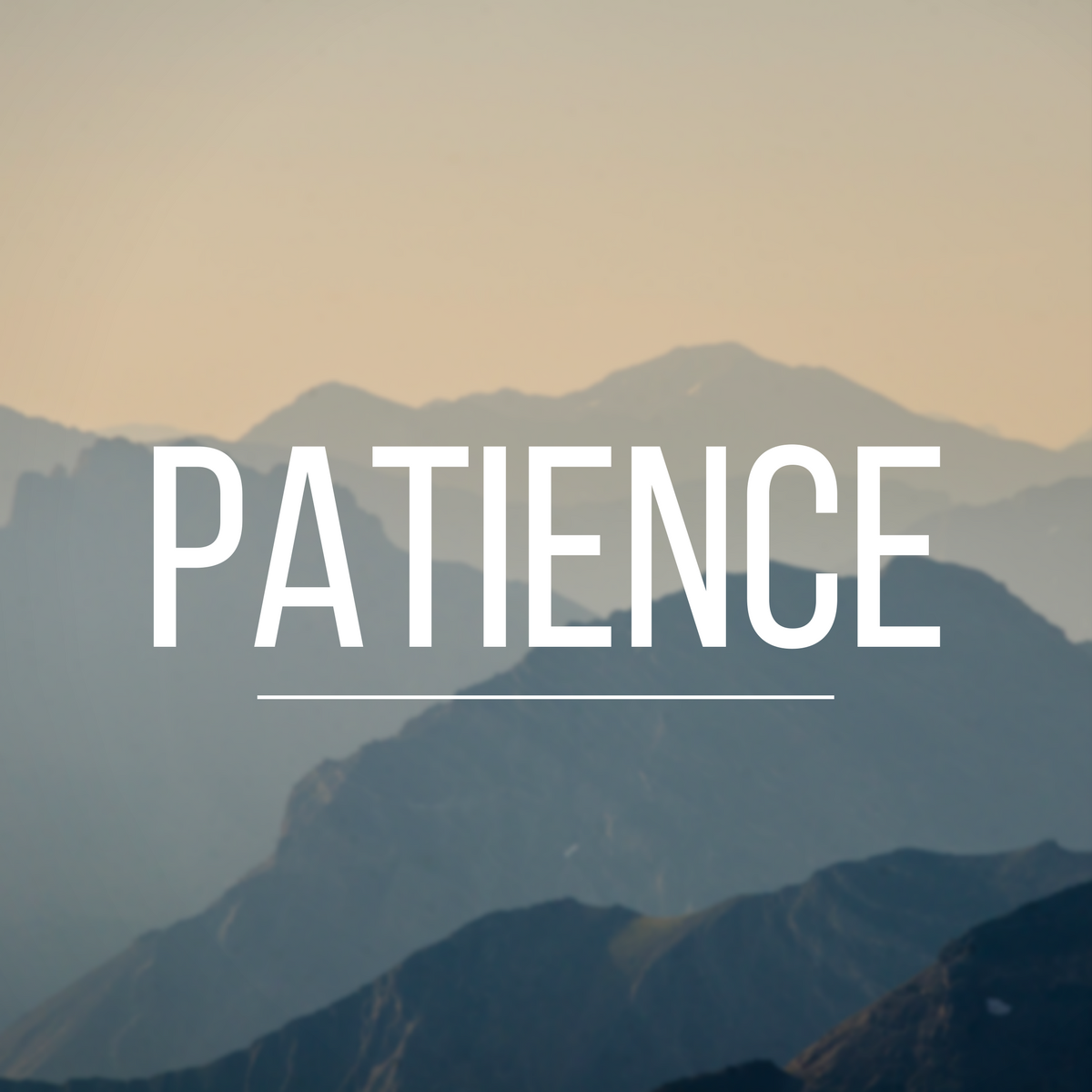 here is patience